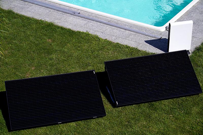 solaranlage für Swimmingpool mit speicher